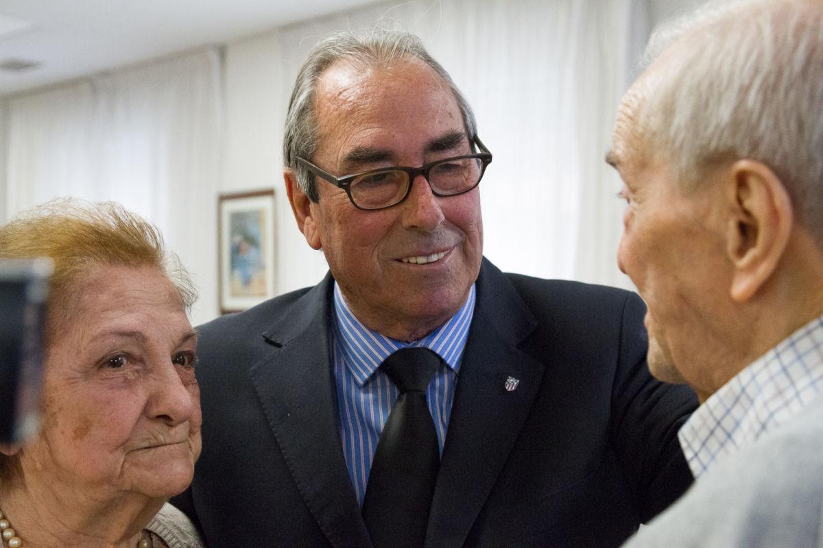 Acto realizado por La Peña Los 50 en la Residencia Ballesol de Madrid